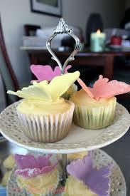Green Tea Butterfly Cupcakes W Mascarpone Frosting