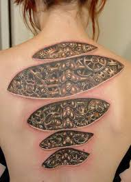 Arabic Fonts On Back Is Best Tattoo Ideas For Girls Who Wants Spine Tattoos