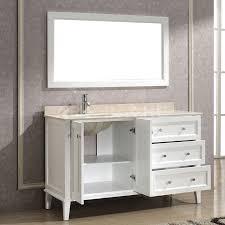 46 Inch Wide Bathroom Vanity by Art Bathe Lily 55 White Bathroom Vanity Solid Hardwood Vanity