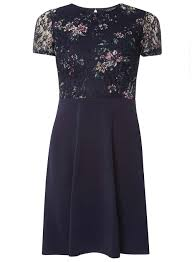 navy floral printed lace dress view all clothing u0026 shoes