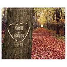 Carved Heart On Tree Personalized 11x14 Art Canvas