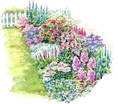 Planning A Flower Garden Layout Wonderful Cut Flower Garden Plans