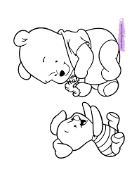 Baby Eeyore Coloring Pages Ba Pooh Disney Book Printable