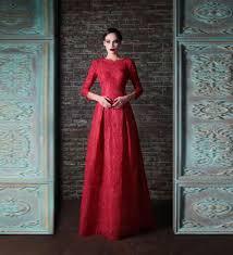online get cheap dark long sleeve evening gown aliexpress com
