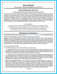 Sample Resume For A Business Analyst