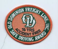 100 Old Dominion Trucking Company Freight Lines Inc Safe Driving Award Driver Patch Etsy