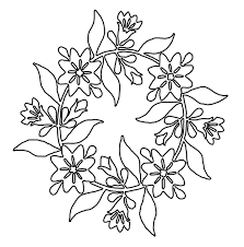 Martha Allis Hollins Quilt Block Wreath Of Roses Kids Stuff Coloring Page