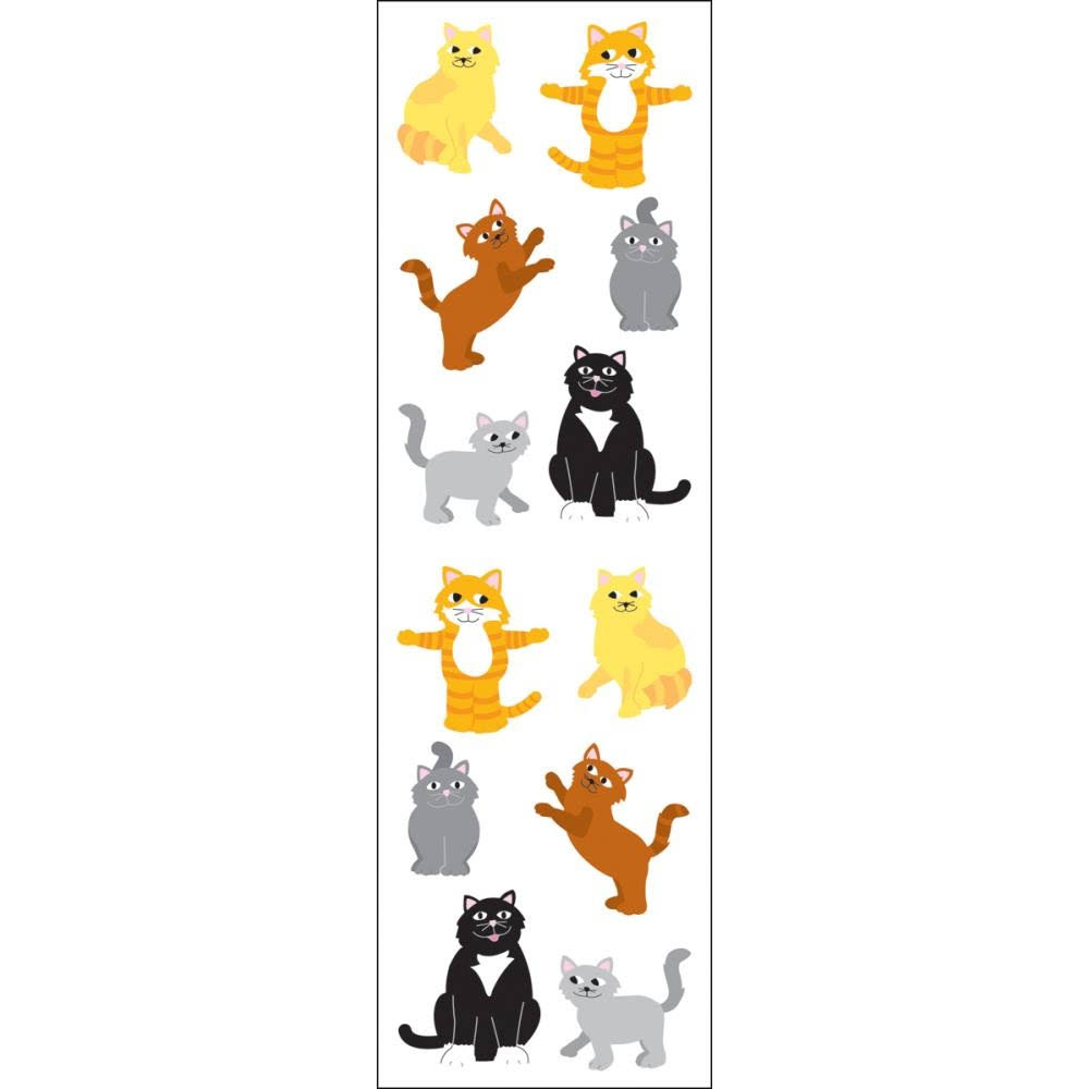 Mrs. Grossman's Stickers - Playful Cats
