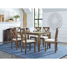 Standard Furniture Langston Dark Rustic 7-Piece Dining Set ... Square Counter Height Table In Dual Color Finish Dark Brown China 5 Pieces Garden Cast Fniture Patio Ding Chair Sets In Amazoncom Marion Cocktail Set Ikea Tables Chairs On Carousell Tv Table Liberty Whitney 7 Piece Trestle Room Dark Color With Two Chairs And Yellow Flowers The Walnut Wood Folding Colour Best How To Mix Match Like A Boss 28 Pairs 33 Black Rooms That Your Dinner Guests Will Adore Lacey 7piece 6 Pc Barnnox Casual