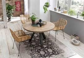 sit esstisch tops tables mit massivholzplatte aus mangoholz runder tisch