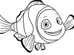 Clown Fish Coloring Page Book