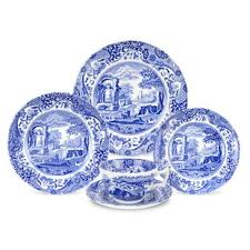 Blue Italian 5 Piece Place Setting Service For 1