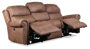 Wall Hugging Reclining Sofa by Legend Power Reclining Sofa Brown Levin Furniture