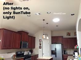 Natural Kitchen Lighting After SunTube Install
