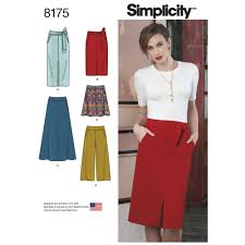 misses slim and flared skirts each in two lengths and cropped