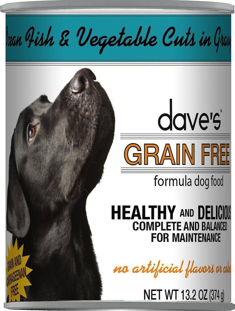 Dave's Pet Food Ocean Fish & Vegetable Cuts in Gravy Grain-Free Wet Canned Adult Dog Food