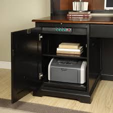 Sauder Edge Water Computer Desk Estate Black by Riverside Bridgeport L Shaped Computer Desk With Optional Hutch