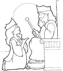 Queen Esther And King Xerxes Coloring Pages Free