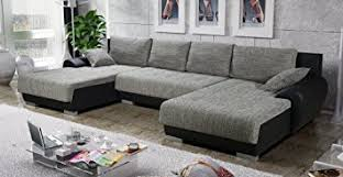 canape angle en u canapé d angle en u convertible teren gris et noir tendance
