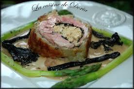 cuisiner trompette de la mort roulé d agneau au foie gras et trompettes de la mort la cuisine de