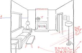 Full Size Of Living Room 2 Point Perspective Step Drawing Inside
