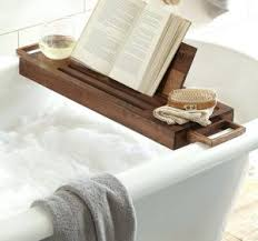 Bamboo Bathtub Caddy With Reading Rack by Expandable Bath Caddy With Book Stand Umbra Aquala Expandable