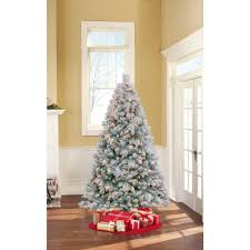 7 Ft Flocked Pre Lit Christmas Tree by Pre Lit 7 Foot Westwood Pine Flocked Artificial Christmas Tree Red