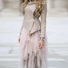 Trendy 2017 Chic Mid Calf Asymmetric Ruffles Tulle Skirts New Design Blush Pink Adult Tutu Skirt