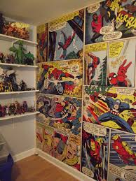 Superhero Comic Wall Decor by Marvel Comics Wall Mural It Looks Amazing In The Figure Room
