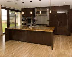 high end flat brown mirrored doors kitchen cabinet design and tiny