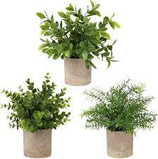 briful künstliche pflanze eukalyptus rosmarin kunstgras