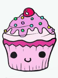 Cupcake Line Drawing