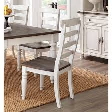 Clearance Two Tone French Country Dining Chair With Turned Legs