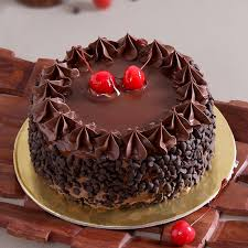 Round chocolate happy birthday cake images for yor loved ones