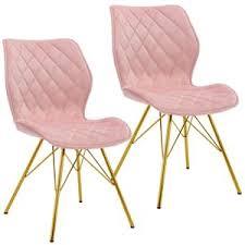 duhome 2er set esszimmerstuhl stoff samt hellrosa pink gesteppt konferenzstuhl vintage design stuhl retro