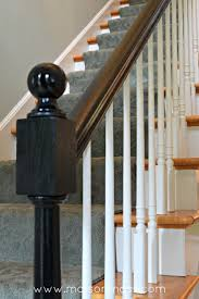 Black Banister: ORC Week 4 • Maison Mass Remodelaholic Stair Banister Renovation Using Existing Newel How To Install Baby Gates On Stairway Railing Banisters Without My Humongous Diy Stairs Fail Kiss My List Stair Banister Rails The Part Of For Installing A Gate Drilling Into Insourcelife Pipe And Wood Hand Rail Made From Scratch Custom Rustic Wood 25 Best Painted Ideas Pinterest Makeover Gel Stain Handrails Your Home Translatorbox Best Railings Railings What Do You Need Know About Staircase Design 30th March 2017 Black