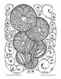 Coloring Page For Adults Lovely Art Nouveau Design With Flowers And Many Details To Color This Printable Is Ideal Relaxing Creative