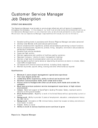 resume for customer service manager resume template and