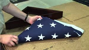 How To Fold A Flag For Putting It Into Memorial Case