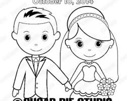 Wedding Coloring Book Activity Printable Personalized Favor Kids 85 X 11 PDF Or JPEG TEMPLATE