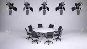 Round Table And Eight Office Chairs On A Gray Background On.. Building A Home Recording Studio Chair Say And Sound Spacious Furnished Radio Table Office Chairs Sofa Vion Mesh Transitional Series Supra X Rolling Scene With Coaster Fniture Fnitureall Corrigan Designs Ashwood 18700 Products The Best Office Chair Of 2019 Creative Bloq Fantastic Mixing Charming Best Plans Cosm Designed By 75 For Herman Miller Takes Us 6599 Fashion Mid Back Height Adjustable Armless Basic Faux Leather Computer Task 360 Degree Swivelin Conch Ding Armrests In Metal Sled Base Porro