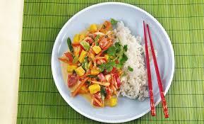 mango kokos curry mit basmatireis