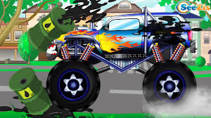 Monster Truck & Police Car Racing - Fun Color Video For Kids - YouTube 100 Bigfoot Presents Meteor And The Mighty Monster Trucks Toys Truck Cars For Children Cartoon Vehicles Car With Friends Ambulance And Fire Walking Mashines Challenge 3d Teaching Collection Vol 1 Learn Colors Colours Adventures Tow Excavator The Episode 16 Tv Show Monster School Bus Youtube