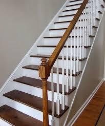 peindre un escalier sans poncer peindre escalier bois en blanc avec rénover un sans poncer idees