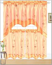 Jcpenney Short Bedroom Curtains by Marvelous Orange Jcpenney Kitchen Collection With Curtains
