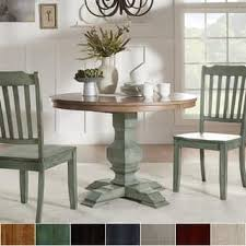 Perfect Distressed Dining Room Table Buy Kitchen Online At Overstock Com Eleanor Two Tone Round Solid