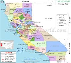 California County Map Counties List