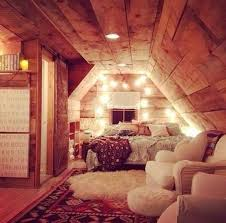 Cabin Attic Converted Into A Rustic And Comfy Bedroom So Charming Cozy Best Room In The House For My Future Home