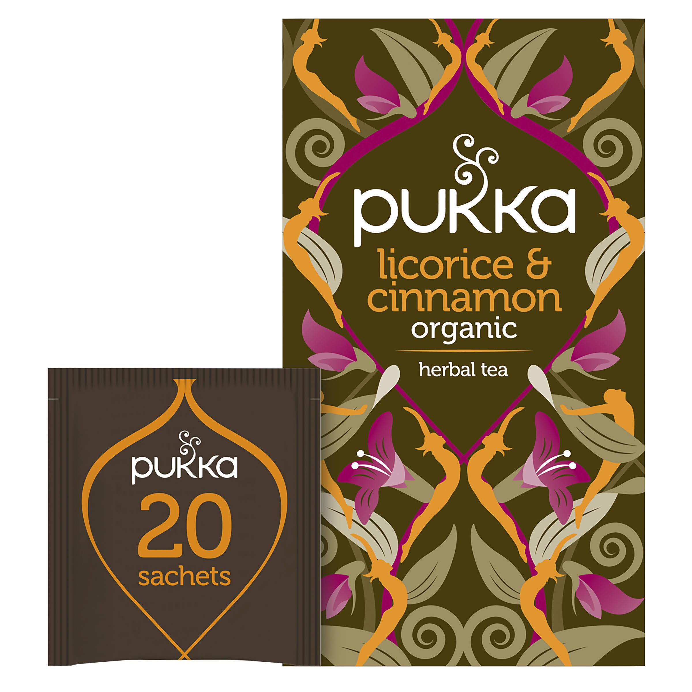 Pukka Organic Tea - Licorice and Cinnamon, 20 Herbal Tea Bags, 40g