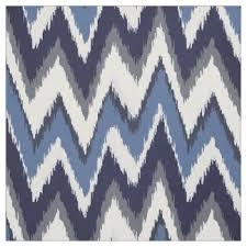 blue zigzag fabric zazzle co uk